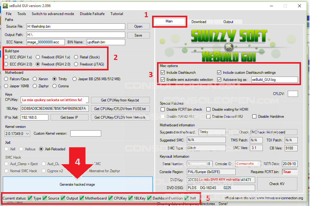 Guida XEBUILDGUI v2.xx & SIMPLE360NANDFLASHER 1.xx BETA di Swizzy-14-reviewandgenerate.png