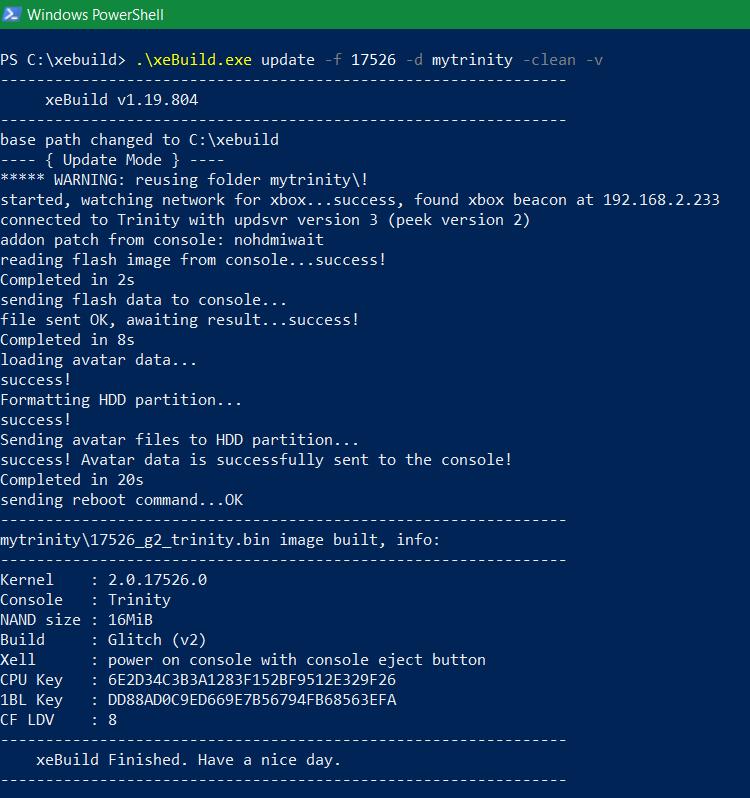 Nome: finish xebuild update.png Visite: 658 Dimensione: 45.2 KB